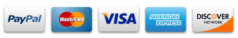 Credit cards Master Card Visa American Express Discover